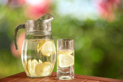lemon water natural skin tip