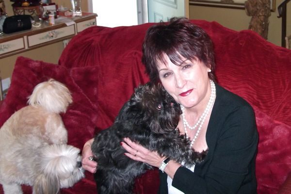 Debra with Dogs