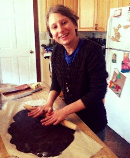 Aubrey Baking Cookies