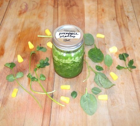 Pineapple Cilantro - Herbal Smoothie Recipes