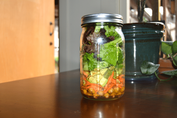 Salad in a jar - Courtney