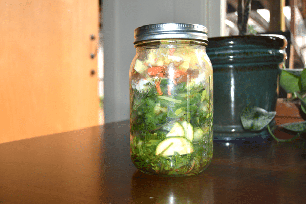 Salad in a jar - Natalie
