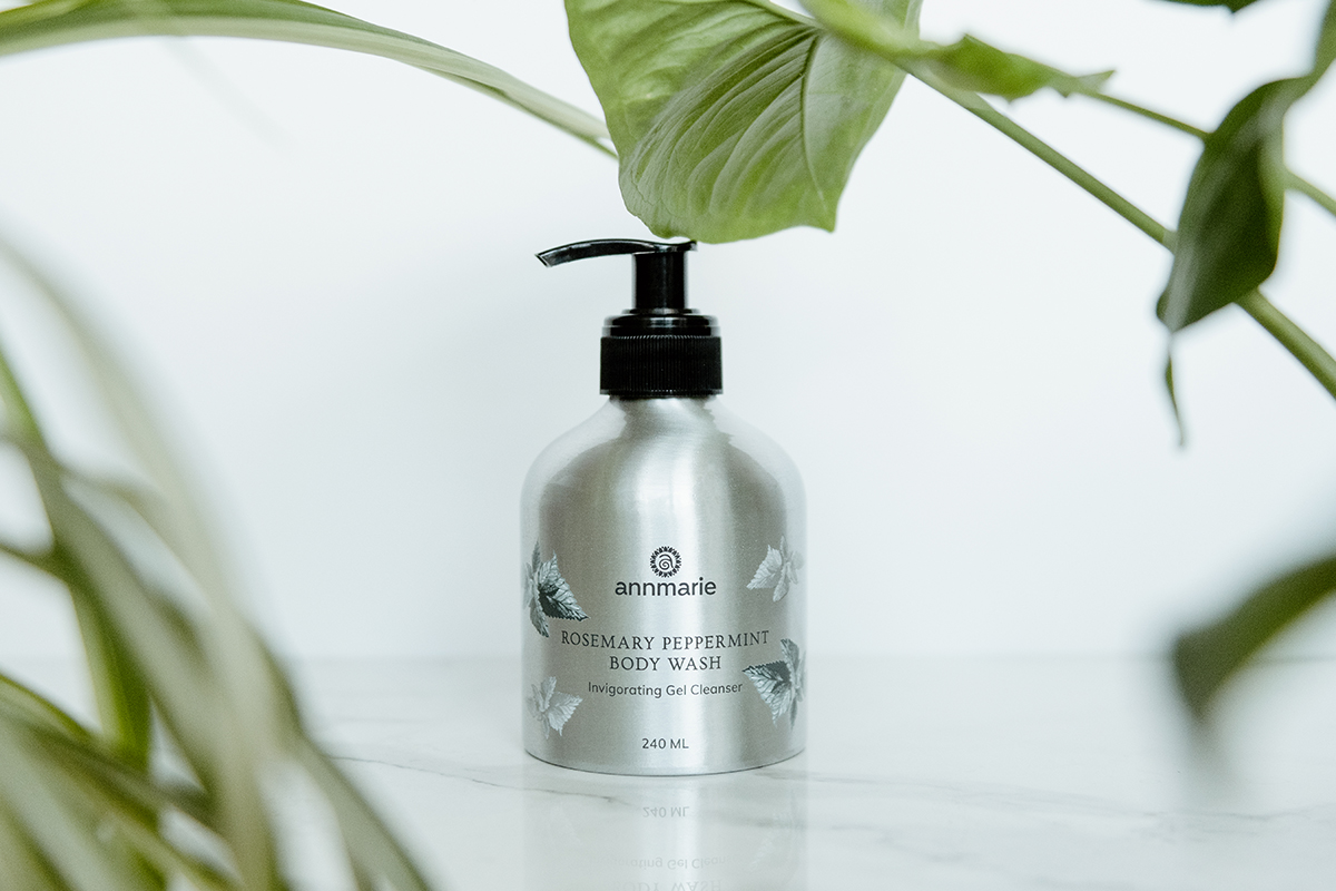 The Rosemary Peppermint Dream Team in Our Vegan Body Wash 1