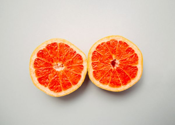 grapefruits to help reduce oil production in skin