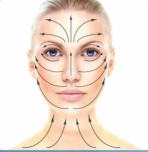 lymph facial strokes for tired morning skin
