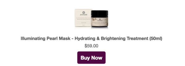 illuminating pearl mask