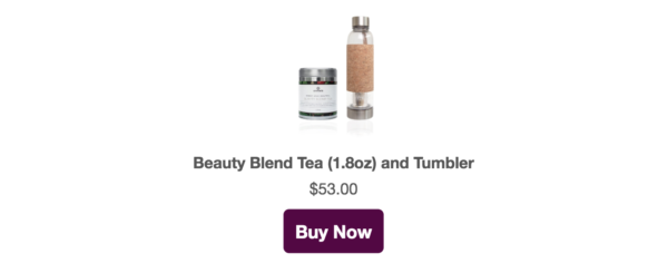 beauty blend tea & tumbler