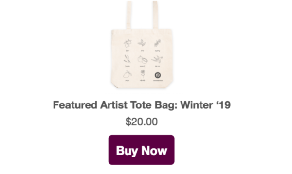 featured artist tote 19