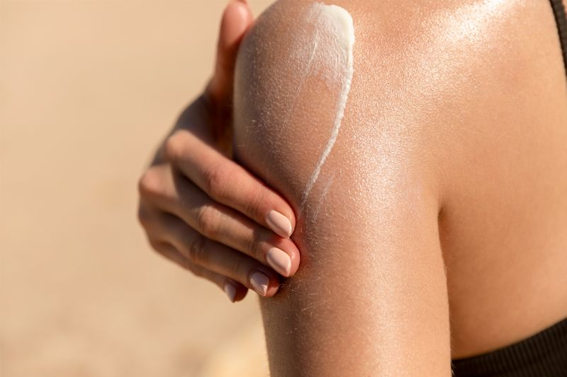 Using SPF every day can protect your skin from uneven skin tone.