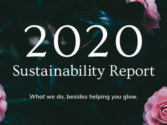 Annmarie Skin Care Sustainability Report: 2020